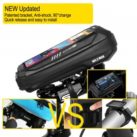 WILD MAN Tas Sepeda Smartphone Case Holder Handlebar Hard Shell Waterproof 0.5L - X-3 - Black - 5