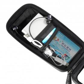 WILD MAN Tas Sepeda Smartphone Case Holder Handlebar Hard Shell Waterproof 0.5L - X-3 - Black - 8