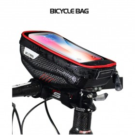 WILD MAN Tas Sepeda Smartphone Case Holder Handlebar Hard Shell Waterproof 1L - E1 - Black - 3