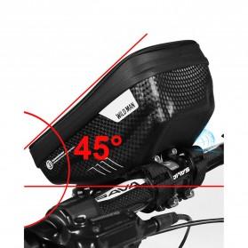 WILD MAN Tas Sepeda Smartphone Case Holder Handlebar Hard Shell Waterproof 1L - E1 - Black - 5