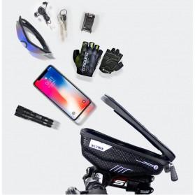 WILD MAN Tas Sepeda Smartphone Case Holder Handlebar Hard Shell Waterproof 1L - E1 - Black - 6