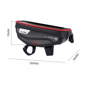 WILD MAN Tas Sepeda Smartphone Case Holder Handlebar Hard Shell Waterproof 1L - E1 - Black - 9