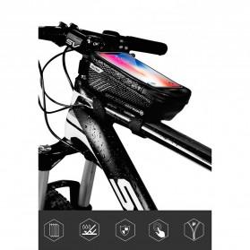 WILD MAN Tas Sepeda Smartphone Case Holder Handlebar Hard Shell Waterproof 1L - E2 - Black - 2