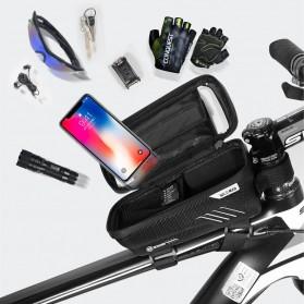 WILD MAN Tas Sepeda Smartphone Case Holder Handlebar Hard Shell Waterproof 1L - E2 - Black - 7