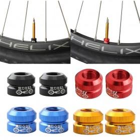 EVERDAWN Ring Nozzle Lock Vacuum Pentil Ban Sepeda Presta Valve - EV32 - Black