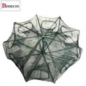 BODECIN Jaring Pancing Ikan Hexagonal 8 Hole Fishing Net Trap Cage - BOD60 - Green