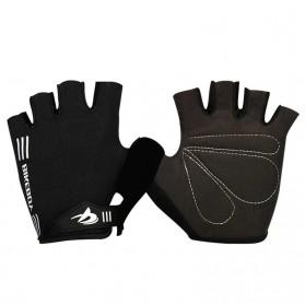 Bikeboy Sarung Tangan Sepeda Olahraga Fitnes Gym Half Finger Size L - B22 - Black