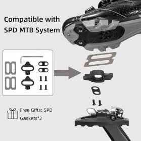 LANNIU Kunci Sepatu Pedal Sepeda Self-Locking Ultralight 2PCS for Shimano LOOKE - B08Y - Black - 3