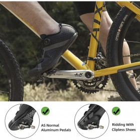 LANNIU Kunci Sepatu Pedal Sepeda Self-Locking Ultralight 2PCS for Shimano LOOKE - B08Y - Black - 5