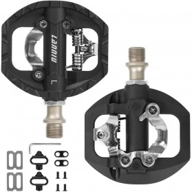 LANNIU Kunci Sepatu Pedal Sepeda Self-Locking Ultralight 2PCS for Shimano LOOKE - B08Y - Black - 6