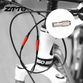 ZTTO Konektor Kabel Sepeda Shifter Cable Line Parts Regulator Connector 4mm 2 PCS - EV24 - Black - 2