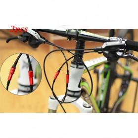 ZTTO Konektor Kabel Sepeda Shifter Cable Line Parts Regulator Connector 4mm 2 PCS - EV24 - Black - 3