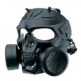 SKG Masker Motor Topeng Airsoft Gun Paintball With Fan Model Tengkorak Skull - M10-2 - Black
