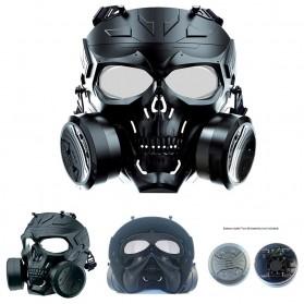 SKG Masker Motor Topeng Airsoft Gun Paintball With Fan Model Tengkorak Skull - M10-2 - Black - 2