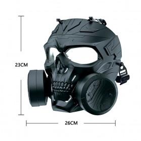 SKG Masker Motor Topeng Airsoft Gun Paintball With Fan Model Tengkorak Skull - M10-2 - Black - 4