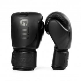ZHENGTU Sarung Tangan Tinju Muay Thai Kick Boxing MMA 12 OZ - PRO-BG-BN03 - Black
