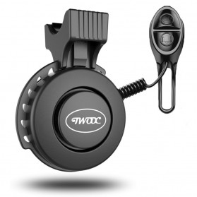TWOOC Bel Sepeda Electric USB Rechargerable - T002 - Black - 5