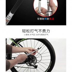 Wheel Up Pompa Angin Ban Sepeda Portable 160PSI - HQ61B - Silver - 4