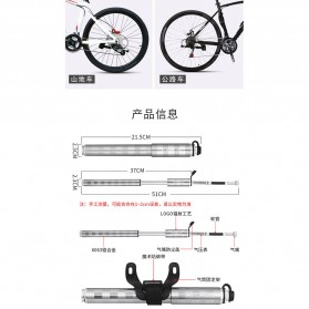 Wheel Up Pompa Angin Ban Sepeda Portable 160PSI - HQ61B - Silver - 10