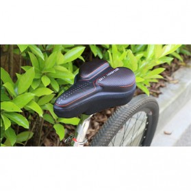 WHEEL UP Cover Jok Sadel Sepeda Breathable Silicone Gel - CH659 - Black/Red - 11