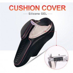 WHEEL UP Cover Jok Sadel Sepeda Breathable Silicone Gel - CH659 - Black/Red - 2