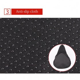 WHEEL UP Cover Jok Sadel Sepeda Breathable Silicone Gel - CH659 - Black/Red - 6