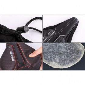 WHEEL UP Cover Jok Sadel Sepeda Breathable Silicone Gel - CH659 - Black White - 9