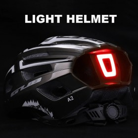 GUB Helm Sepeda Bicycle Road Bike Helmet EPS Foam LED Light - A02 - Black/Red - 2