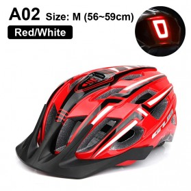 GUB Helm Sepeda Bicycle Road Bike Helmet EPS Foam LED Light - A02 - Red/Black - 1