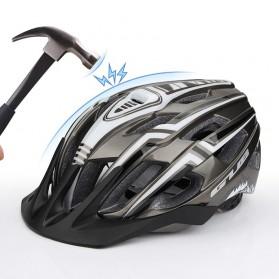 GUB Helm Sepeda Bicycle Road Bike Helmet EPS Foam LED Light - A02 - White/Black - 5