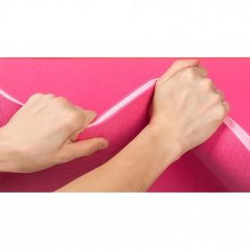 Karpet Pilates Yoga Anti Slip TPE 6mm - 0914YJD01 - Blue - 4