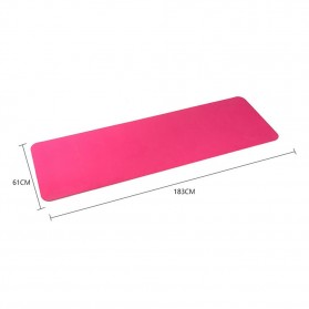 Karpet Pilates Yoga Anti Slip TPE 6mm - 0914YJD01 - Blue - 7