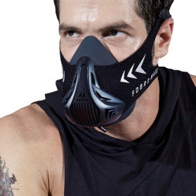 FDBRO Sport Mask 3 Masker Olahraga Elevation Training Fitness Workout Running Cardio Size M - FD3 - Black - 1