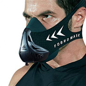 FDBRO Sport Mask 3 Masker Olahraga Elevation Training Fitness Workout Running Cardio Size M - FD3 - Black - 2