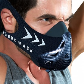 FDBRO Sport Mask 3 Masker Olahraga Elevation Training Fitness Workout Running Cardio Size M - FD3 - Black - 3
