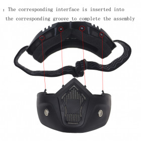 TaffSPORT BOLLFO Kacamata Goggles Mask Motor Retro Anti Glare Windproof - MT-01 (OBRAL RETAK HALUS) - Black/Brown - 6