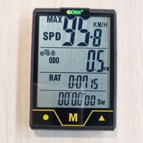 BOGEER Computer Speedometer Sepeda Wireless Odometer LED Monitor - 328 - Black