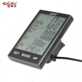 BOGEER Computer Speedometer Sepeda Wired Odometer LED Monitor - 318 - Black - 2