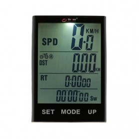 BOGEER Computer Speedometer Sepeda Wired Odometer LED Monitor - 318 - Black - 4