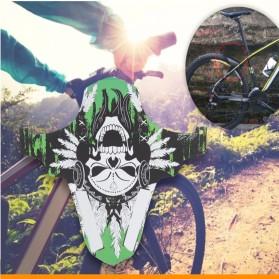 WAKE Spakbor Depan Sepeda Gunung MTB Mudguard Tire Fender Front - F02 - Green - 3
