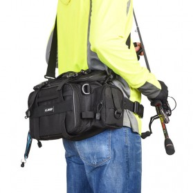 LEO Tas Perlengkapan Memancing Profesional Multifungsi - 27852 - Black - 7
