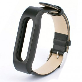 Leather Strap Option for Xiaomi Mi Band & Mi Band 1s (OEM) - Black