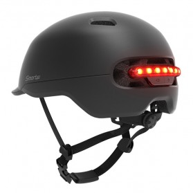 Xiaomi Youpin Smart4u Helm Sepeda City Light Riding Smart Flash Helmet Size L - Black