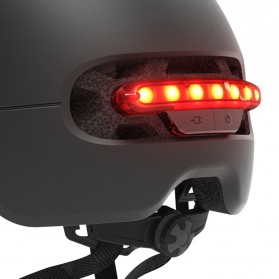 Xiaomi Youpin Smart4u Helm Sepeda City Light Riding Smart Flash Helmet Size L - Black - 2