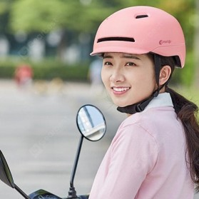 Xiaomi Youpin Smart4u Helm Sepeda City Light Riding Smart Flash Helmet Size L - Black - 5