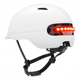 Xiaomi Youpin Smart4u Helm Sepeda City Light Riding Smart Flash Helmet Size L - White