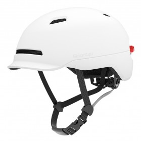 Xiaomi Youpin Smart4u Helm Sepeda City Light Riding Smart Flash Helmet Size L - White - 3