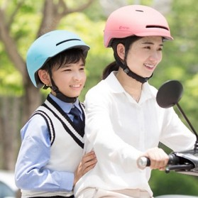 Xiaomi Youpin Smart4u Helm Sepeda City Light Riding Smart Flash Helmet Size L - White - 6