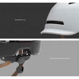 Xiaomi Youpin Smart4u Helm Sepeda City Light Riding Smart Flash Helmet Size L - White - 8