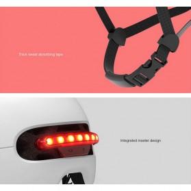 Xiaomi Youpin Smart4u Helm Sepeda City Light Riding Smart Flash Helmet Size L - White - 9